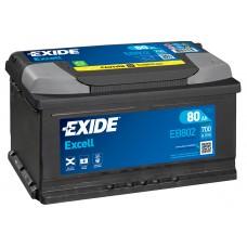 Автомобильный аккумулятор EXIDE Excell 6СТ-80Ah АзЕ 700A (EN) EB802