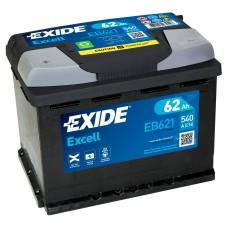 Автомобильный аккумулятор EXIDE Excell 6СТ-62Ah Аз 540A (EN) EB621
