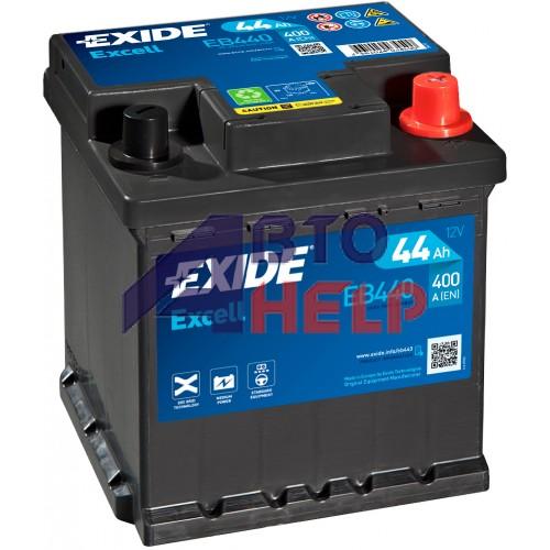 Автомобильный аккумулятор EXIDE Excell 6СТ-44Ah АзЕ 400A (EN) EB440