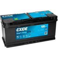 Автомобильный аккумулятор EXIDE Start-Stop EFB 6СТ-105Ah АзЕ 950A (EN) EL1050