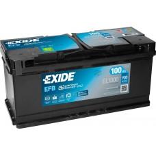 Автомобильный аккумулятор EXIDE EFB Carbon Boost 2.0 6СТ-100Ah АзЕ 900A (EN) EL1000