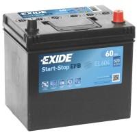 Автомобильный аккумулятор EXIDE Start-Stop EFB 6СТ-60Ah АзЕ ASIA 520A (EN) EL604
