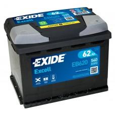Автомобильный аккумулятор EXIDE Excell 6СТ-62Ah АзЕ 540A (EN) EB620