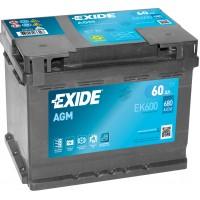 Автомобильный аккумулятор EXIDE Start-Stop AGM 6СТ-60Ah АзЕ 680A (EN) EK600