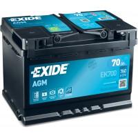 Автомобильный аккумулятор EXIDE Start-Stop AGM 6СТ-70Ah АзЕ 760A (EN) EK700