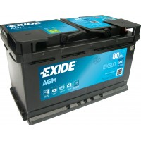 Автомобильный аккумулятор EXIDE Start-Stop AGM 6СТ-80Ah АзЕ 800A (EN) EK800