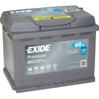 Автомобильный аккумулятор EXIDE Premium Carbon Boost 2.0 6СТ-60Ah Аз 600A (EN) EA601
