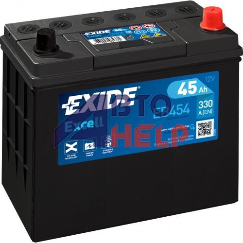 Автомобильный аккумулятор EXIDE Excell 6СТ-45Ah АзЕ ASIA 330A (EN) EB454
