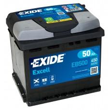 Автомобильный аккумулятор EXIDE Excell 6СТ-50Ah АзЕ 450A (EN) EB500