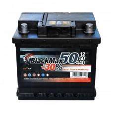 Автомобильный аккумулятор BlackMax 6СТ-50Ah АзЕ 440A (EN) B3002