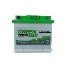Автомобильный аккумулятор GREEN POWER MAX 6СТ-52Ah АзЕ 480A (EN)