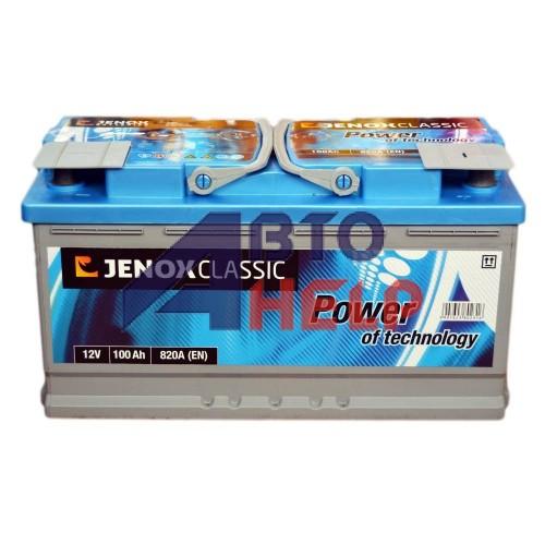 Автомобильный аккумулятор JENOX Classic 6СТ-100Ah АзЕ 820A (EN) R092636AC 2018