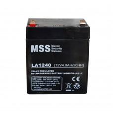 Аккумулятор AGM 12V, 4Ah, MastAK MT1240