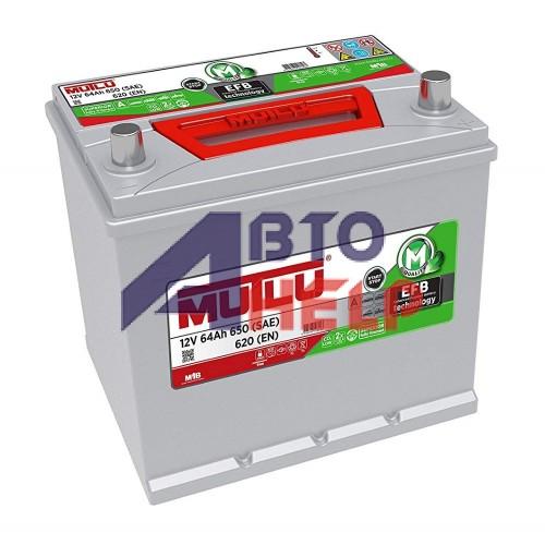Автомобильный аккумулятор Mutlu EFB 6СТ-64Ah АзЕ ASIA 620A (EN) EFB.D23.64.062.C