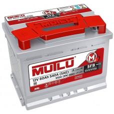 Автомобильный аккумулятор Mutlu SILVER 6СТ-60Ah АзЕ 510A (EN) LB2.60.051.A