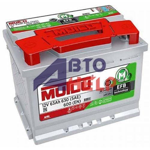 Автомобильный аккумулятор Mutlu EFB 6СТ-63Ah АзЕ 600A (EN) EFB.L2.63.060A