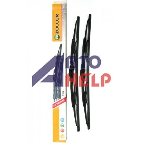 Щётки стеклоочистителя Zollex каркасные 350мм (6 адаптеров) комплект 2шт S-350