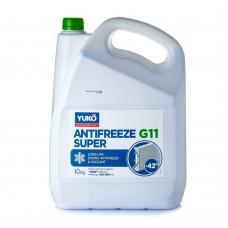 Антифриз YUKO Super G11 -42°C зелёный 10л