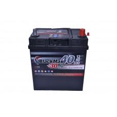 Автомобильный аккумулятор BlackMax 6СТ-40Ah АзЕ ASIA 330A (EN) ТК B4018