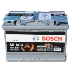 Аккумулятор BOSCH 6СТ-70 АзЕ (S6008) AGM Start-Stop (760EN)