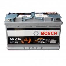Аккумулятор BOSCH 6СТ-80 АзЕ (S5A11) AGM Start-Stop (800EN)