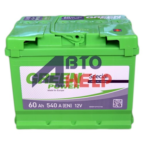 Аккумулятор GREEN POWER 6СТ-60 АзЕ (540EN)