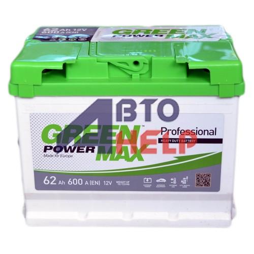 Аккумулятор GREEN POWER 6СТ-62 Аз MAX (600EN)