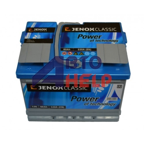 Аккумулятор Jenox 6СТ-60 Аз Classic (R055615AC), (530EN)