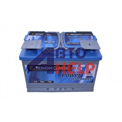 Автомобильный аккумулятор JENOX Classic 6СТ-78Ah АзЕ 740A (EN) R074616AC2