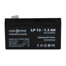 Аккумулятор тяговий Logic Power 1,3Ah без нижн. бурта LP 12-1.3