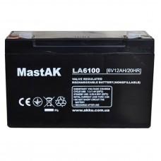 Аккумулятор тяговий MastAK MT6100 3СТ-10Ah Аз AGM