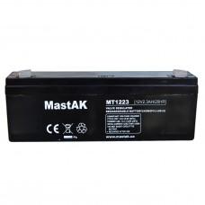 Аккумулятор тяговий MastAK MT1223 6СТ-2,3Ah Аз AGM