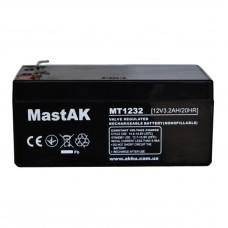 Аккумулятор тяговий MastAK MT1232 6СТ-3,5Ah AGM