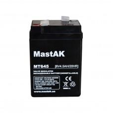 Аккумулятор тяговий MastAK MT645 6СТ-4,5Ah AGM