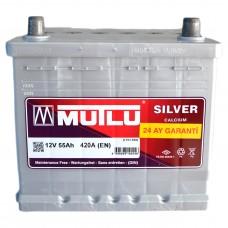 Аккумулятор Mutlu 6СТ-55Ah АзЕ Asia Silver HONDA (420EN) без нижн. Бурта