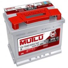 Автомобильный аккумулятор Mutlu SFB 6СТ-55Ah АзЕ 540A (EN) SMF55516