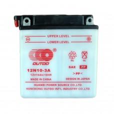 Аккумулятор мото Outdo 3СТ-10Аh (12N 10-3A)