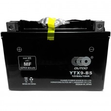 Аккумулятор мото Outdo 6СТ-9Ah AGM (YTX9-BS12V)