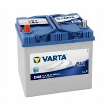 Аккумулятор VARTA Blue Dynamic D48 6СТ-60Ah Аз Asia (560411054) (540EN)