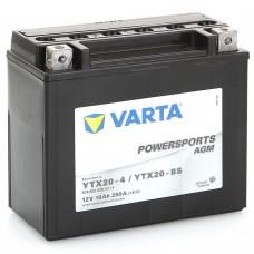 Аккумулятор мото VARTA Powersports AGM 6СТ-18Аh Аз (YTX20-BS, 518902026) (250EN)