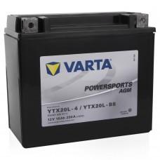 Аккумулятор мото VARTA Powersports AGM 6СТ-18Аh АзЕ (YTX20L-BS, 518901026) (250EN)