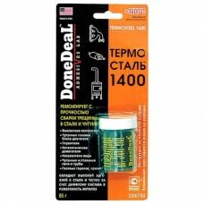 Герметик DoneDeal Термосталь 1400 термостойкий ремонтный герметик  для стали и чугуна (DD6799) (85г)