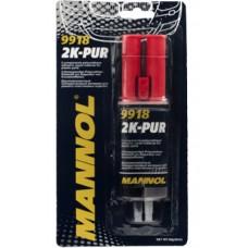Клей MANNOL 2К-PUR двухкомпонетный полиуритановый для пластика (9918) (30г)