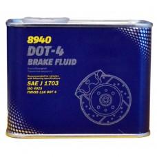 Тормозная жидкость MANNOL DOT-4 BREMSFLUSSIGKEIT (500мл)