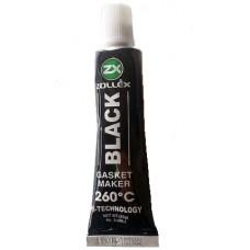 Герметик прокладки Zollex Gasket Maker Black 260°C черный (3-bl) (25г)