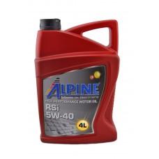 Автомобильное моторное масло Alpine RSi 5W-40 4л
