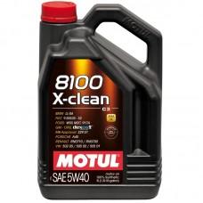Автомобильное моторное масло MOTUL 8100 X-clean C3 5w-40 5л