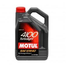 Автомобильное моторное масло MOTUL 4100 Turbolight 10w-40 5л