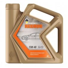 Автомобильное моторное масло Роснефть Maximum 15W-40 4л