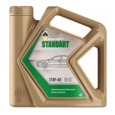 Автомобильное моторное масло Роснефть Standart 15W-40 4л